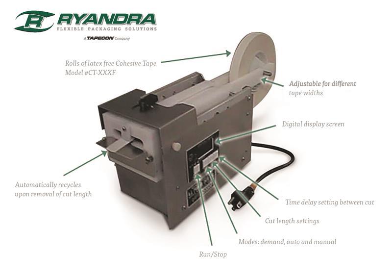 cohesive tape dispenser